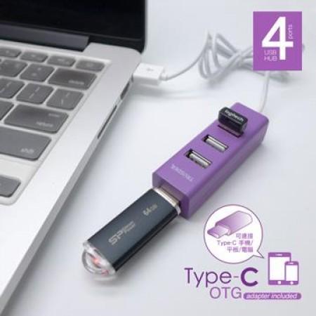 TRUSDER 4孔USB集線器(附OTG接頭)