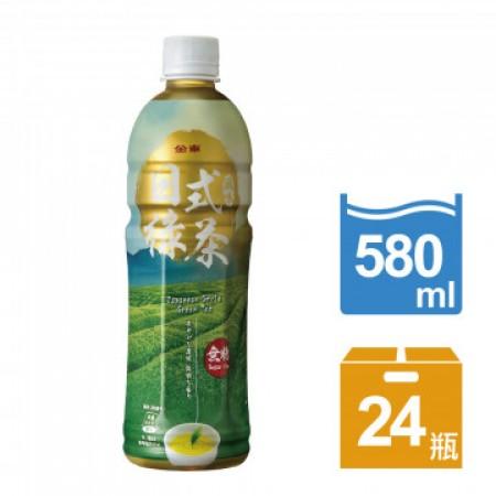 金車日式風味綠茶(無糖) (580ml*24入/箱)-平均每入$19