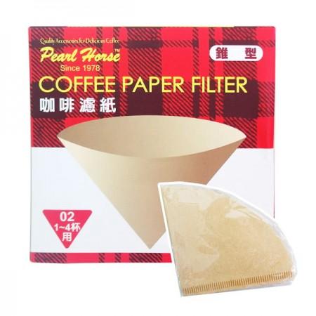 日本寶馬Pearl Horse 椎型咖啡濾紙 1~4杯用 (40枚入/盒)(平均每盒$53)