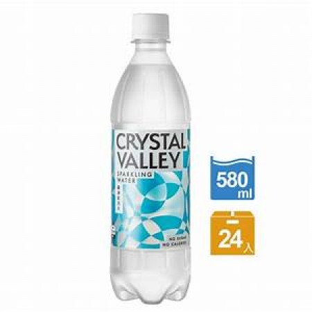 Crystal Valley礦沛氣泡水 585ml瓶(平均每入$15)