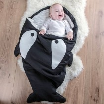 【西班牙製】鯊魚咬一口BabyBites純棉嬰幼兒多功能睡袋-小殺人鯨