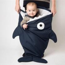 【西班牙製】鯊魚咬一口BabyBites純棉嬰幼兒多功能睡袋-丈青藍