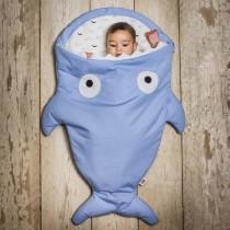 【西班牙製】鯊魚咬一口BabyBites純棉嬰幼兒多功能睡袋-牽牛小花藍
