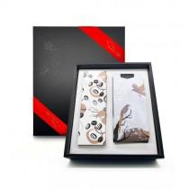 [Krone皇雀] 精選綜合藍山&肯亞AA咖啡豆+咖啡封口夾量匙時尚禮盒組