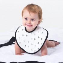 【BabyBites 鯊魚咬一口】100% 親膚純棉 防潑水完整包覆寶寶口水巾 圍兜(西班牙製)平均:520元
