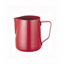 寶馬牌Pearl Horse 素色不鏽鋼拉花杯-特氟龍紅色350ml