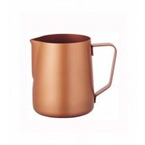 寶馬牌Pearl Horse 素色不鏽鋼拉花杯-特氟龍咖啡色350ml