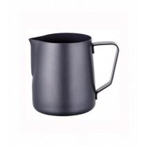 寶馬牌Pearl Horse 素色不鏽鋼拉花杯-特氟龍黑色350ml