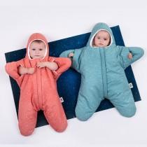 【小海星-土耳其綠&葡萄紅 】鯊魚咬一口BabyBites純棉嬰幼兒睡袋